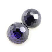 """Earrings silver """"Boules De Cristal"""" amethyst (1 cm yy0. 39'')."""