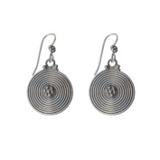 Hand Crafted Spiral Hanging Earrings in 92.5 Sterling Silver