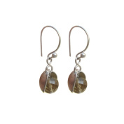 Prettry Small Cut Citrine Gemstone Hanging Earrings in 925 Sterling Silver