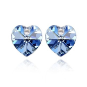 Blue Pearls - Blue Hearts. Elements Earrings CRY A307 G