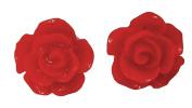 12mm Rose Earrings Red Stud Kids Childrens Earrings
