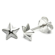 Sterling silver stud earrings with Star| Pair with Butterflies | 5.5mm Star | TDi-ST18 | other sizes and styles available - search for TDi-ST