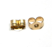 1 Pair of Medium (4mm) Butterfly Earring Backs Clasps Scrolls - Genuine 9ct Gold