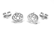 Celtic Knot Stud Earring - Genuine 925 Sterling Silver