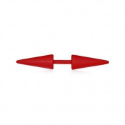 Urban Male Red Stainless Steel Fake Ear Expander Spikes