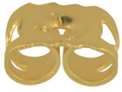 Medium Weight, 5mm SOLID 9ct GOLD Earrring Butterfly Backs / Scrolls, 1 PAIR