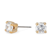 Jon Richard Sparkling Small Cubic Zirconia Round Gold Stud Earring GOLD