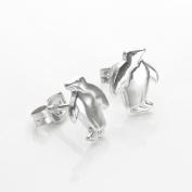 925 Sterling Silver Penguin Stud Earrings / Studs