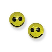 Kids Earrings Smiley Faces Childs Earrings Sterling silver Earrings for children