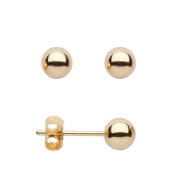 5mm Ball Stud Earrings 18ct Yellow Gold Plated