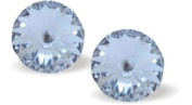Byzantium 950 - Eclipse Studs, Crystal , 6mm Sterling Silver-6