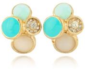 Blingalove Gold Studs Earrings
