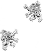 Hamilton & Young Scottish Lion Silver Stud Earrings 0587