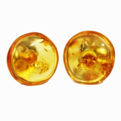 Big Round Amber Honey Studs with sterling silver back finding. Comes with lovely gift box.