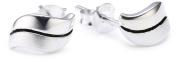 Dew Sterling Silver Curvy Grooved Stud Earrings 4030SB