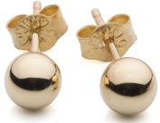 4mm 9ct Yellow Gold Ball Stud Earrings