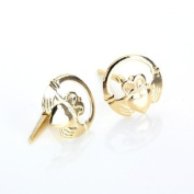 9ct Yellow Gold Andralok Claddagh Ring Stud Earrings / Studs