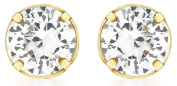 9ct Yellow Gold 5mm Round Cubic Zirconia Stud Earrings
