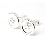 The Olivia Collection Sterling Silver Button Stud Earrings