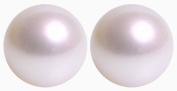 Kimura Pearls White Round AA Quality Cultured Akoya Pearl 9 ct Gold Stud Earrings