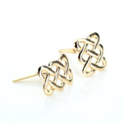 9ct Yellow Gold Andralok Celtic Knot Design Stud Earrings