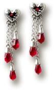 Bleeding Heart (studs) - Pair of Gothic Earrings