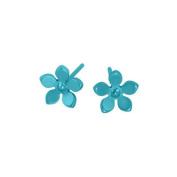 Titanium Kingfisher Blue Earrings