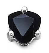Jewellery-Schmidt-Men's earrings Silver Black Sapphire 0.50 carats