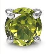 Jewellery-Schmidt-Men's/gentlemen-Jewellery Earring / plug Peridot 925 Sterling Silver Rhodium-0, 50 carats