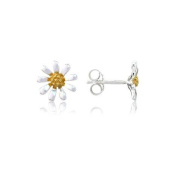 Argent Of London Sterling Silver & Gold Plated Daisy Stud Earrings