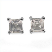 Jewellery-Schmidt-Rose quartz earrings 925 Sterling Silver Rhodium square-0.70 carat