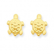 14ct Turtle Post Earrings - JewelryWeb