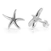 Little Treasures Nickel Free Sterling Silver Earrings Starfish Stud Earring