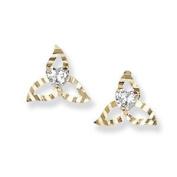 9ct Ball Studs 9ct Diamond Cut Trinity Earring