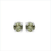Jewellery-Schmidt-Rare green tourmaline earrings Silver Rhodium