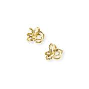 Jewelco London 9ct Yellow Gold - Stud Earrings -