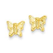 14ct Butterfly Post Earrings - JewelryWeb