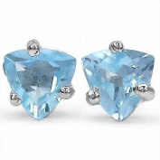 Jewellery-Schmid-Blue topaz earrings 925 Sterling Silver Rhodium-1, 00 carats