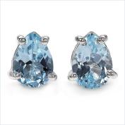 Jewellery-Schmidt-Earrings Blue Topaz / Blue Topaz 925 Sterling Silver Rhodium-1, 70 carat
