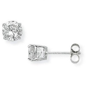 9ct White Gold 5mm Round Cubic Zirconia Stud Earrings SE210
