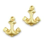 Earring stud anchor 9k gold
