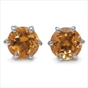 Jewellery-Schmidt-Citrine Earrings Sterling Silver Rhodium-925 1.80 carats