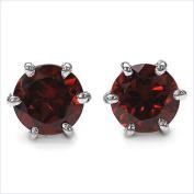Jewellery-Schmidt-Garnet Earrings 925 Sterling Silver Rhodium-2, 20 carats