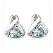 Jewellery-Schmidt-Earrings Blue Topaz-1, 60 carat rhodium plated silver