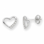 0.07 Carat Diamond Stud Earrings in 9ct White Gold