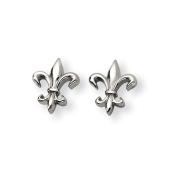 Titanium Fleur de Lis Earrings - JewelryWeb