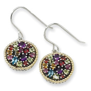 Sterling Silver With 14ct 2.16tw Multi Gemstone Earrings - JewelryWeb