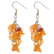 Chip Earrings - Orange