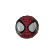 Jewellery of Lords Single Acrylic Spiderman Spider Eyes Super Hero Surgical Stainless Steel Stud Earring