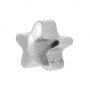 Studex Ear Piercing Silver Coloured Stainless Steel Plain Star Shape Stud Earrings 4mm